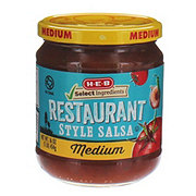 H-E-B Select Ingredients Medium Chunky Restaurant Style Salsa