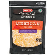H-E-B Select Ingredients Mexican Style Blend Cheese, Shredded