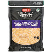 H-E-B Select Ingredients Mild Cheddar and Monterey Jack Cheese, Shredded