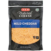 H-E-B Select Ingredients Mild Cheddar Cheese, Shredded