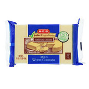 H-E-B Select Ingredients Mild White Cheddar Cheese