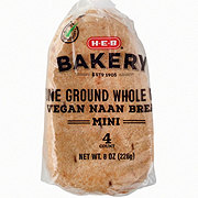 H-E-B Select ingredients Mini Stone Ground Whole Wheat Vegan Naan