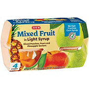 H-E-B Select Ingredients Mixed Fruit In Light Syrup