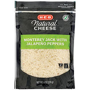 H-E-B Select Ingredients Monterey Jack with Jalapenos Cheese, Shredded