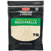 H-E-B Select Ingredients Mozzarella Cheese, Shredded