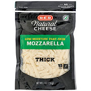 H-E-B Select Ingredients Mozzarella Cheese, Thick Shredded