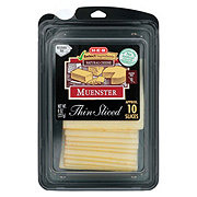 H-E-B Select Ingredients Muenster Cheese, Thin Slices
