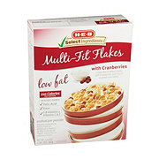 H-E-B Select Ingredients Multi-Fit Flakes with Cranberries Cereal