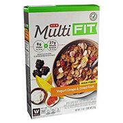 H-E-B Select Ingredients Multi Fit High Fiber Yogurt Drops & Dried Fruit Cereal