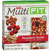H-E-B Select Ingredients Multi Fit Raspberry Vanilla Granola Bars
