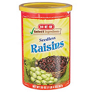 H-E-B Select Ingredients Natural California Sweet Raisins