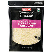 H-E-B Select Ingredients New York Extra Sharp Cheddar Shredded Cheese