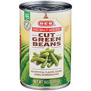 H-E-B Select Ingredients No Salt Added Cut Green Beans