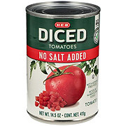 H-E-B Select Ingredients No Salt Added Diced Tomatoes