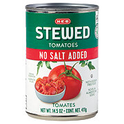 H-E-B Select Ingredients No Salt Added Sliced Stewed Tomatoes