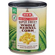 H-E-B Select Ingredients No Salt Added Super Sweet Whole Kernel Corn