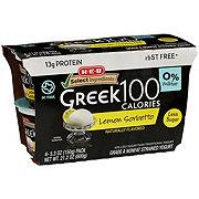 H-E-B Select Ingredients Non-Fat 100 Calorie Lemon Sorbetto Greek Yogurt