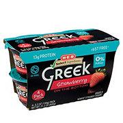 H-E-B Select Ingredients Non-Fat Strawberry on the Bottom Greek Yogurt