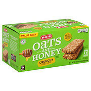 H-E-B Select Ingredients Oats and Honey Crunchy Granola Bars Value Pack