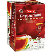 H-E-B Select Ingredients Peppermint Premium Herbal Tea Single Cup