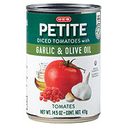 H-E-B Select Ingredients Petite Diced Tomatoes with Garlic and Olive Oil
