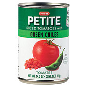 H-E-B Select Ingredients Petite Diced Tomatoes With Green Chilies