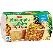 H-E-B Select Ingredients Pineapple Tidbits In Light Syrup