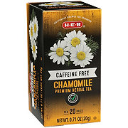 H-E-B Select Ingredients Premium Caffeine Free Chamomile Herbal Tea Bags