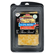 H-E-B Select Ingredients Reduced Fat Colby and Monterey Jack Cheese, Thin Slices