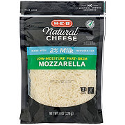 H-E-B Select Ingredients Reduced Fat Mozzarella Cheese, Shredded
