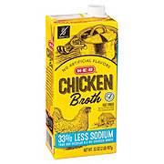 H-E-B Select Ingredients Reduced Sodium Chicken Broth