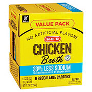 H-E-B Select Ingredients Reduced Sodium Chicken Broth Club Pack