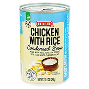 H-E-B Select Ingredients Reduced Sodium Chicken & Rice Condensed Soup
