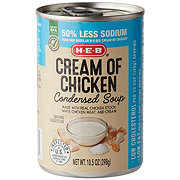 H-E-B Select Ingredients Reduced Sodium Cream of Chicken Condensed Soup