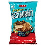 H-E-B Select Ingredients Restaurant Style White Corn Tortilla Chips