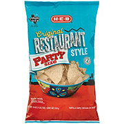 H-E-B Select Ingredients Restaurant Style White Corn Tortilla Chips Party Size