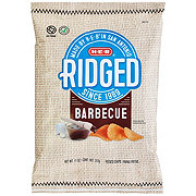 H-E-B Select Ingredients Ridged Barbeque Potato Chips