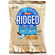 H-E-B Select Ingredients Ridged Lightly Salted Potato Chips