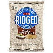H-E-B Select Ingredients Ridged Loaded Baked Potato Potato Chips