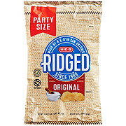 H-E-B Select Ingredients Ridged Original Potato Chips Family Size