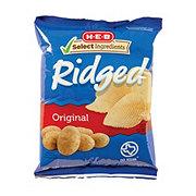 H-E-B Select Ingredients Ridged Potato Chips