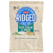 H-E-B Select Ingredients Ridged Sour Cream & Onion Potato Chips