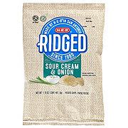 H-E-B Select Ingredients Ridged Sour Cream & Onion Potato Chips