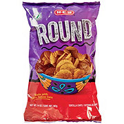 H-E-B Select Ingredients Round Yellow Corn Tortilla Chips