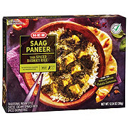 H-E-B Select Ingredients Saag Paneer with Spiced Basmati Rice