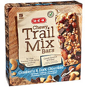 H-E-B Select Ingredients Select Ingredients Chewy Cranberry and Dark Chocolate Trail Mix Bars
