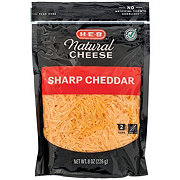 H-E-B Select Ingredients Sharp Cheddar Cheese, Shredded