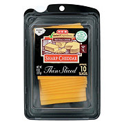 H-E-B Select Ingredients Sharp Cheddar Cheese, Thin Slices