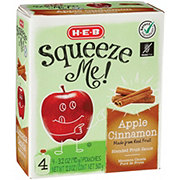 H-E-B Select Ingredients Squeeze Me! Apple Cinnamon Sauce Pouches