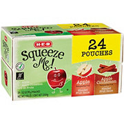 H-E-B Select Ingredients Squeeze Me! Sweet Apple & Apple Cinnamon Sauce Pouches